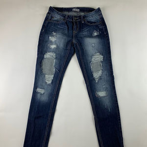 909ff533acf Soundgirl Jeans Skinny Distressed Size 9